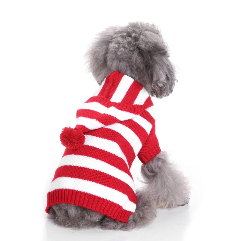 9651c74009c Warm Winter Christmas Pets Dog Clothes Small Medium Large Dogs Coat Jacket  Hoodie Sweatshirt Stripe Puppy Chihuahua Costume-in Dog Coats   Jackets  from Home ...