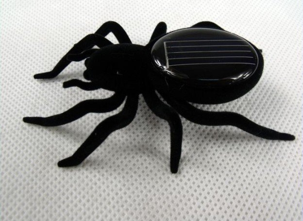 Educational Solar Spider Robot Insect Toy Car Cockroach for free shipping