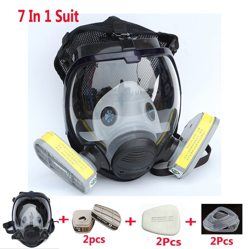 Image 3 - Lot Of Chemcial Painting Spraying Silicone Gas Mask Same For 3M 6800 Dust Gas Mask Full Face Industry Respiratorlotlot oflot lot -