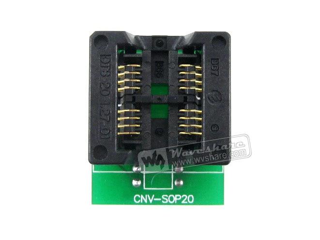module Waveshare SOP8 TO DIP8 2-Units Enplas IC Programmer Adapter Test Socket 5.4mm Width 1.27mm Pitch for SOP8 SO8 SOIC8 Packa sop28 to dip28 programmer module adapter socket yellow
