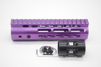 Tatical 7''Inch Purple Anodzied Slim KeyMod Free Float Handguard Rail Mount System AR15 M4 M16 Accessories