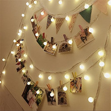 6M 40 LED String Light Outdoor Fairy Lights Bulbs Garden Patio Wedding Christmas Decoration Light Chain Waterproof