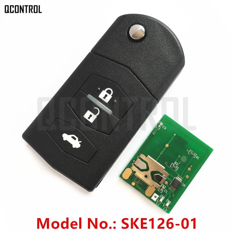 QCONTROL Flip Remote Key For MAZDA Car 2 M2 Demio / 3 M3 Axela/ 5 M5 Premacy / 6 M6 Atenza / 8 M8 With Chip Number SKE126-01