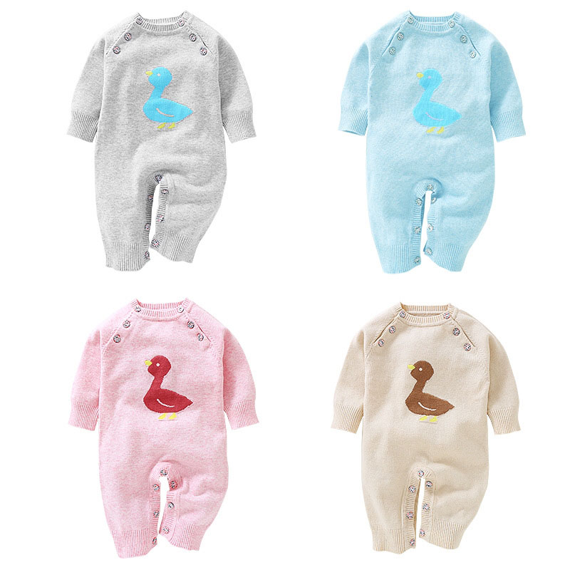 baby girl boys new born winter autumn fall birth clothes Sweaters jumper romper knit o neck 0-3 4-6 7-9 months grey blue pink