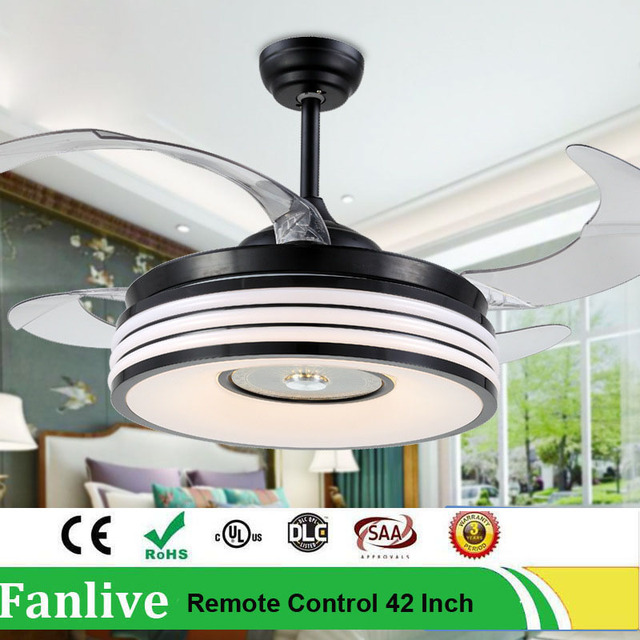 Fanlive led modern invisible fans lamp ceiling fan home furnishing a fanlive led modern invisible fans lamp ceiling fan home furnishing a living room restaurant mute bring aloadofball Gallery