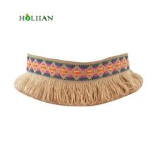 2017 women multicolor boho tassel Choker necklace ethnic tribal fringe chain gothic collar bohemia colorful torques mujer new
