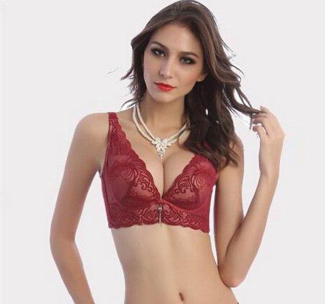 8d7d256980c9 Mujeres Sexy V cuello de la ropa interior sujetador sujetador 85C 85B 36B lencería  ropa interior