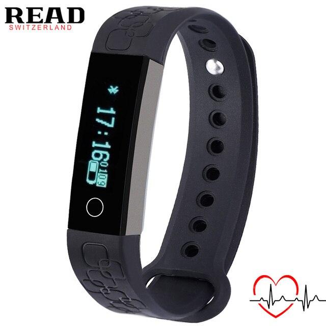 READ спорт Смарт браслет R3 для Android для Apple Сигнализация Монитор Сердечного ритма запястье Bluetooth Сна Tracke