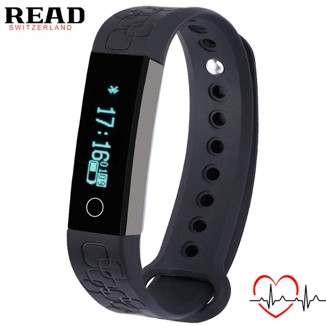 READ sports Smart bracelet R3 for Android for Apple Alarm Heart Rate Monitor wrist band Bluetooth Sleep Tracke