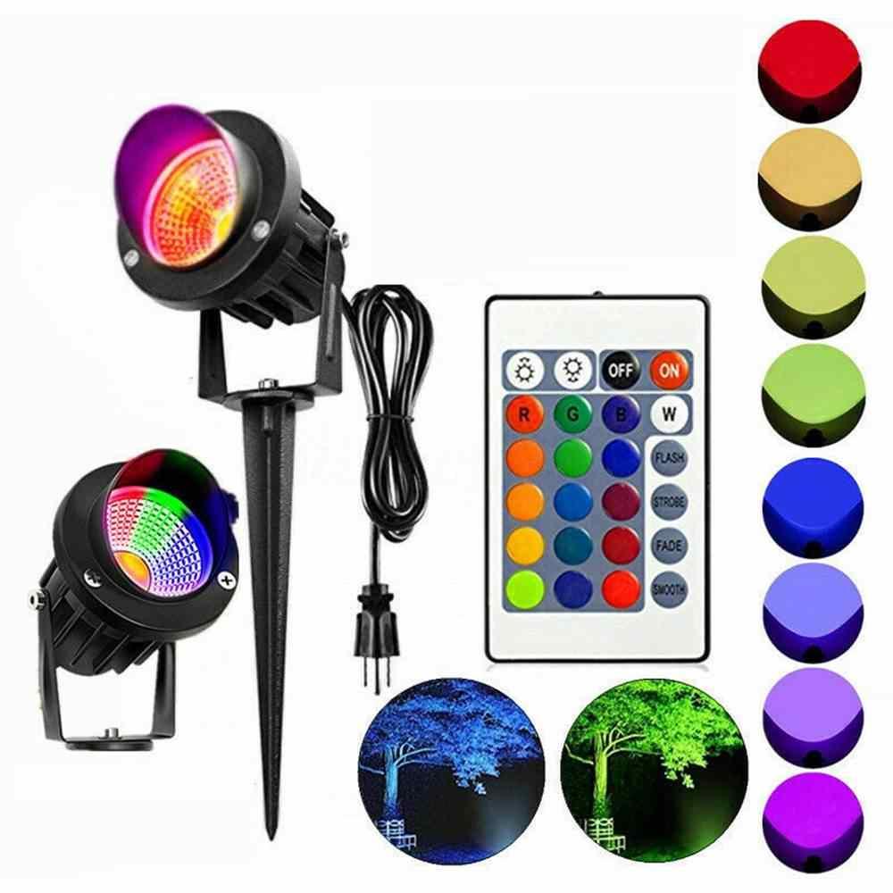 AC85-265V 10 Вт RGB сад Фея свет проектор светодиодный газон свет Водонепроницаемый IP65 Открытый Пейзаж точечная лампа с пультом ЕС/США штекер