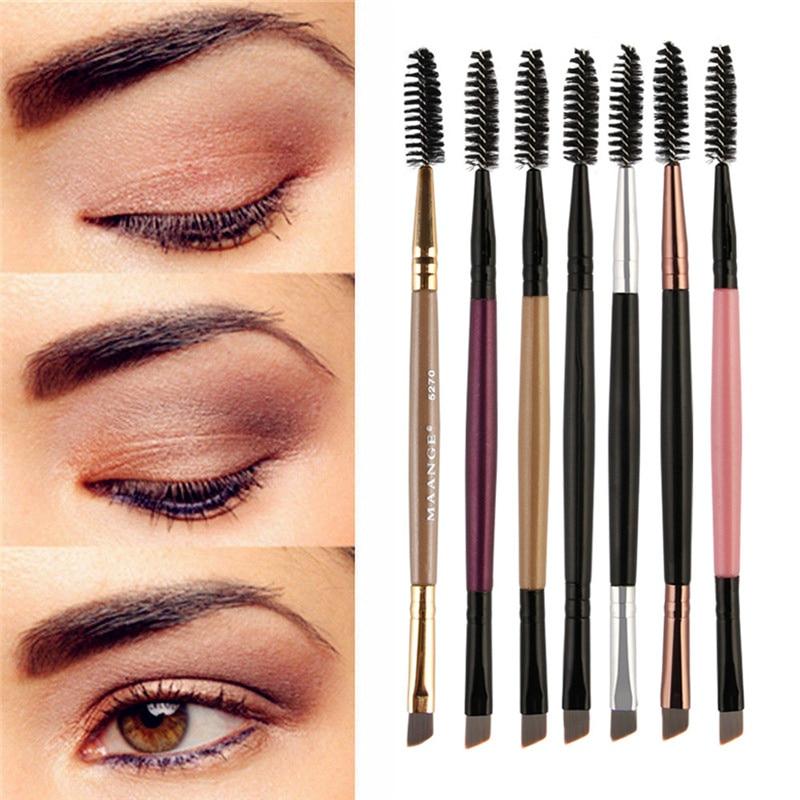 Maange Eyebrow Makeup Brush Wood Handle Double Sided Eyebrow Flat Angled Brushes Eye Brow Makeup Brushes Professional #1