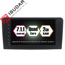 Android 7.1.1 2 Din 9 Дюймов Автомобиля DVD GPS Видео Плеер Для Mercedes/Benz W164/ML300/ML350/ML500/GL320//GL350 GL420 2 Г RAM Радио