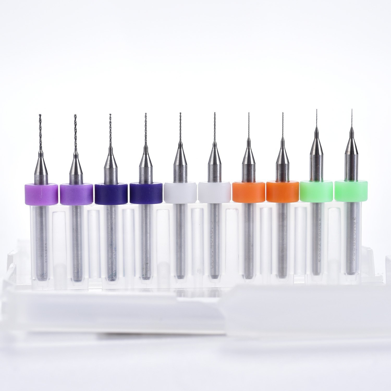 0.2mm 0.3mm 0.4mm 0.5mm 0.6mm Drill Bits 3D Printer Kit Extruder Nozzle Head Cleaner Bits Pack of 10