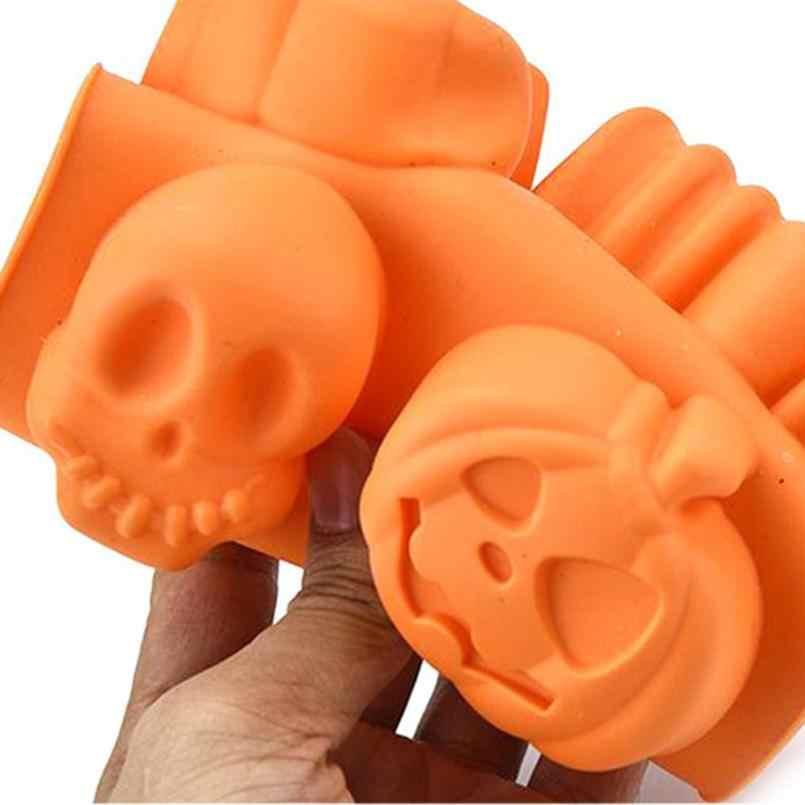 크리 에이 티브 해피 할로윈 실리콘 호박 케이크 실리콘 몰드 주방 베이킹 도구
