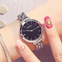 KEZZI Luxury Brand Watch Women Diamond Wristwatch Fashion Quartz Bracelet Gold Silver Black Watch Classic Clock