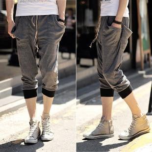 Plus size male personality decoration cotton knee length men's ...