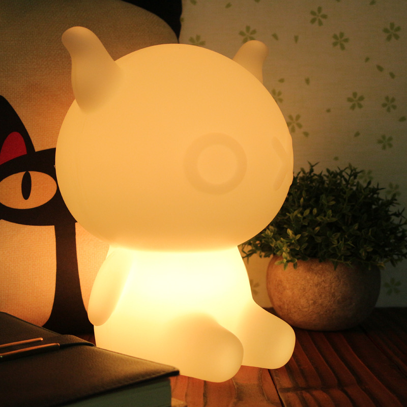 Novelty USB Led Night Light cartoon bear Seven color change remote controller desk lamp light gift for Baby Children color change remote control led animal shape night light