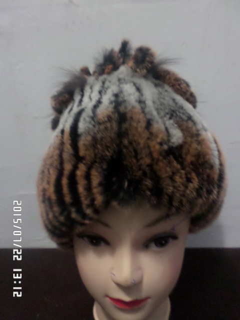 The scarf rabbit fur hat Dual-use products