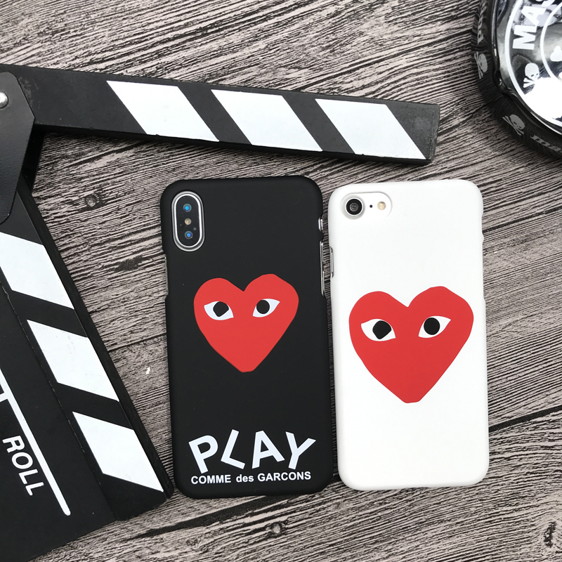 New Fashion brand CDG Play Comme des Garcons Hard Matte cover case for iphone 5 5S SE 6 6S plus 7 7plus 8 8plus X 10 phone cases