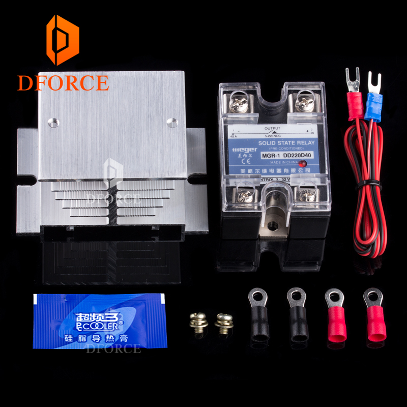 dforce 3D Printer Heated Bed Power Module High Current SSR KIT MOSFET upgrade RAMPS 1.4 reprap free shipping 3000pcs free shipping si2300ds si2300 si2300ds t1 ge3 sot23 3 mosfet 30v 3 6a n ch mosfet