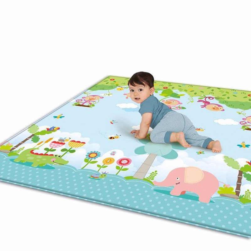 Детский коврик для ползания и игр, коврик для игр, уплотненный экологический двухсторонний для детей, головоломка, детские развивающие игры, ковер, детские игрушки