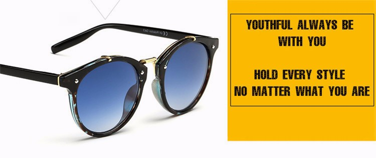 Fashion Vintage Round Sunglasses Women Men Brand Designer Retro Mirror Sunglass Ladies Female Male Sun Glasses For Women Glasses (9)