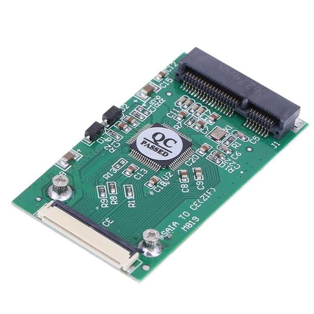 Мини SATA mSATA PCI-E SSD на 40pin 1,8 дюймов ZIF CE конвертер карта для IPOD IPAD для Toshiba для Hitachi ZIF CE HDD жесткий диск
