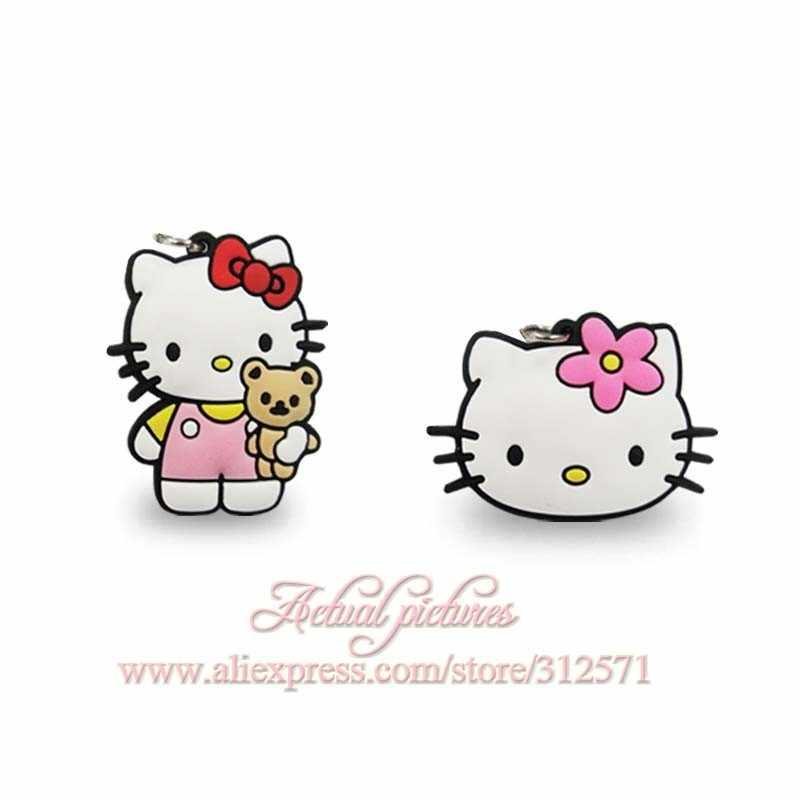 Nova Alta Qualidade 100 pcs Olá Kitty KT gato pingentes de telefone acessórios do partido dos miúdos presentes fit encantos colar de corrente chave de viagem presente