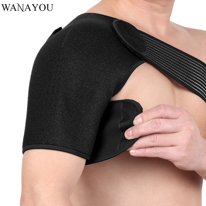 WANAYOU 1 PC Adjustable Professional Shoulder Strap Pads Protector Sports Elastic Breathable Brace Support Wraps Shoulder Belt