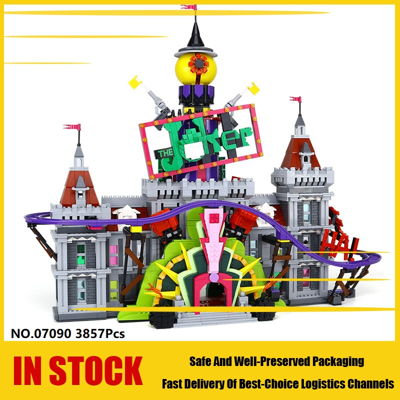 07090 3857pcs bat man super hero series the joker manor. Black Bedroom Furniture Sets. Home Design Ideas