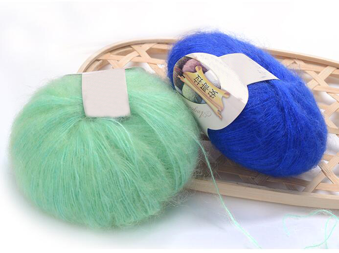 knitting wool crochet yarn to knit Angola mink wool yarns mohair wool ...