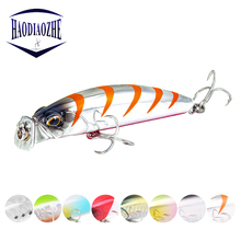 Купить с кэшбэком Popper Fishing Lures 8cm 10g Crankbait Japan Minnow Hard Bait Artificial Floating Wobblers Bass Pike Pesca Tackle Fishing Bait