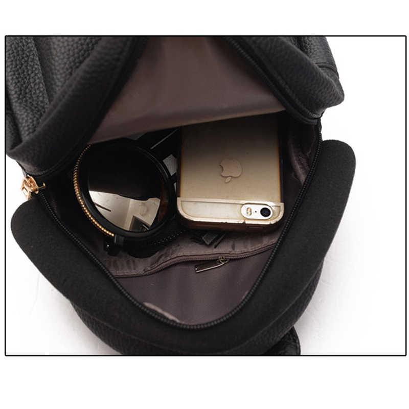 0b07c1cda194 ... Coofit Женский мини-рюкзак модный Повседневный Молодежный кожаный рюкзак  на плечо рюкзак кошелек для девочек ...