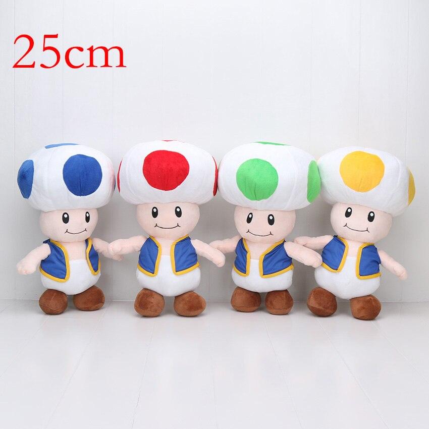 f662ee6b6e91e6 18 40 cm Super Mario Bros Mushroom Toad 4 Kleuren super mario Knuffel  gevuld Pop in 18-40 cm Super Mario Bros Mushroom Toad 4 Kleuren super mario  Knuffel ...