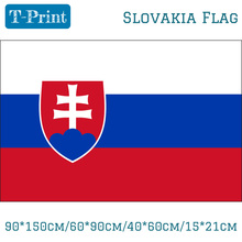 Free shipping 90*150cm/60*90cm/40*60cm/15*21cm Slovakia Flag Slovak Banner 3*5ft For World Cup National Day Olympic Games