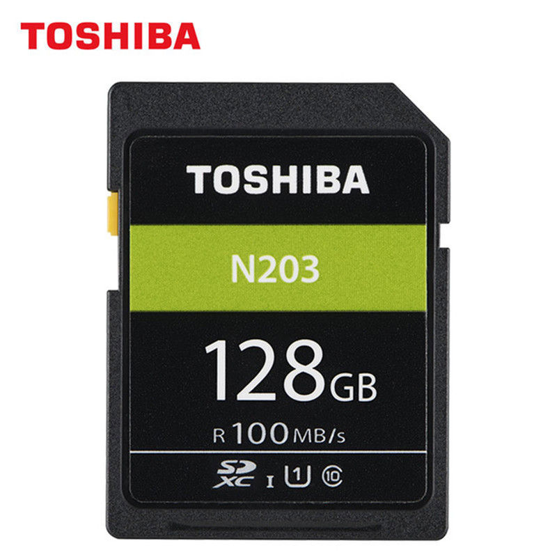 Original TOSHIBA SD Card 32GB 64GB 128GB SDHC SDXC UHS-I U1 Flash Memory SD Card Class10 100MB/S Camera Card For Full HD Canon