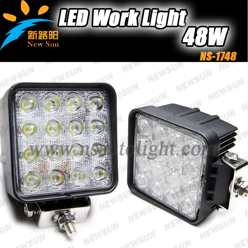 2pcs 48W LED Work Light for Indicators Motorcycle Spot Flood beam Driving Offroad Boat Car Tractor Truck 4x4 SUV ATV 12V-24V 2pcs 6 inch 18w led work light for indicators motorcycle driving offroad boat car tractor truck 4x4 suv atv spot flood 12v