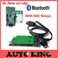 with Bluetooth ds-tcs cdp NEC Relay Green Board OBD OBD2 OBDII Diagnostic Scan Tool  new vci CDP Pro for cars trucks free ship