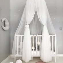 Cotton Nordic Mosquito Net Baby Bedding Dome Bed Canopy 7 Colors Hanging Kids Bedcover Curtain For Sleeping