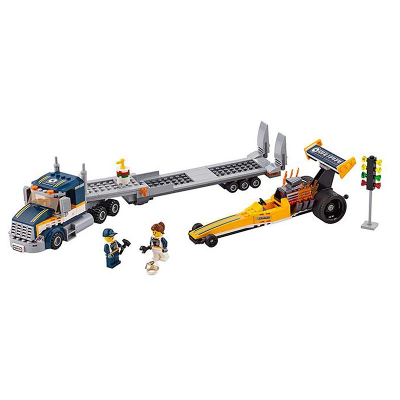 Lepin Pogo Bela 10650 Urban City Dragster Transporter Building Blocks Bricks Compatible legoe Toys Gifts for Children Model compatible lepin city block police dog unit 60045 building bricks bela 10419 policeman toys for children 011