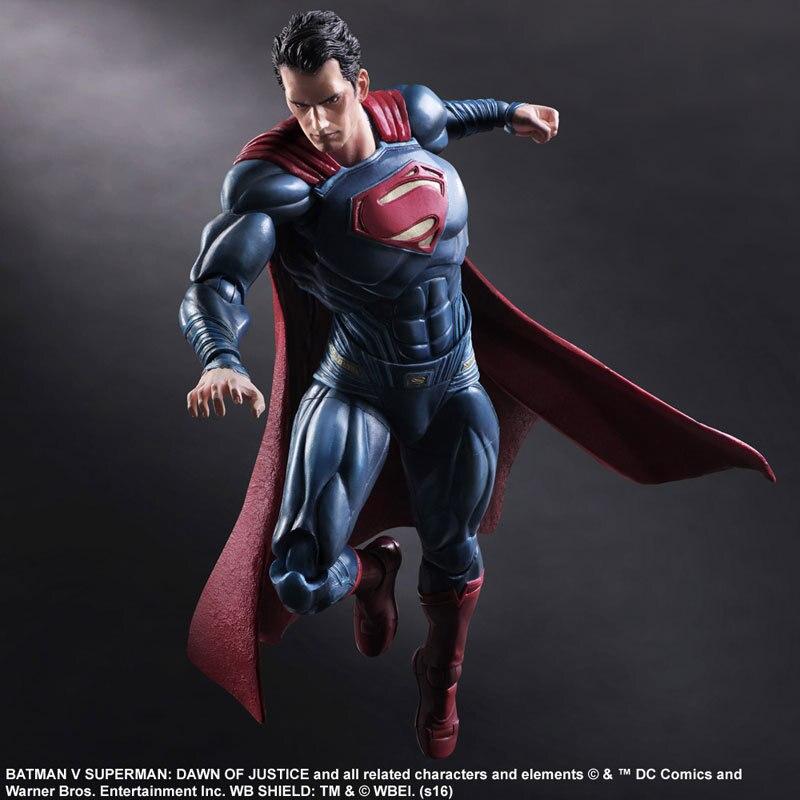 Play Arts 25cm die Superman Zeichen in Film Batman vs Superman DC Super Hero Action-figur Spielzeug