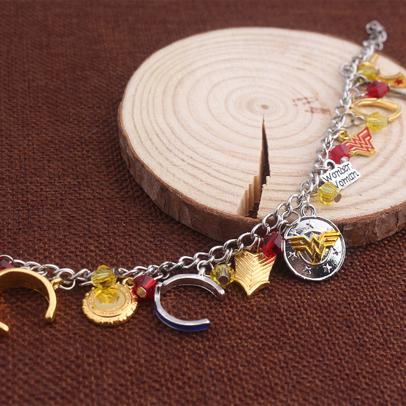 wonder woman charm bracelet. Black Bedroom Furniture Sets. Home Design Ideas