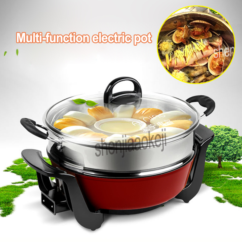 5L Electric cooker Non-stick pan Electric wok frying pan Multi-function for hot pot noodle frying stew steam cooker 220v/50hz5L Electric cooker Non-stick pan Electric wok frying pan Multi-function for hot pot noodle frying stew steam cooker 220v/50hz