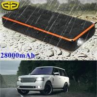 Super Waterproof 28000mAh Car Jump Starter 12V 1000A Peak Starting Device Power Bank Car Charger For