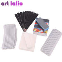 Artlalic 40 Pcs Nail Art Sanding Files Buffer Block Manicure Pedicure Tools Sand Paper Foam UV Gel Set DIY Beauty
