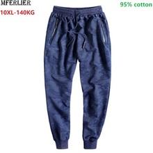 Mens casual sports pants Camouflage sportswear Large size big 8XL 9XL 10XL cotton pencil pants Parkour