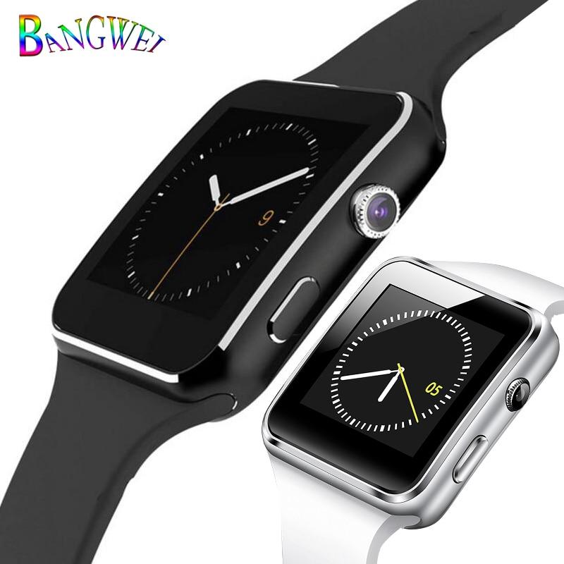 BANGWEI Sport Smart Watch Women men LED Smartwatch pedometer sleep monitoring support SIM TF Android phone watch Alarm clock+Box