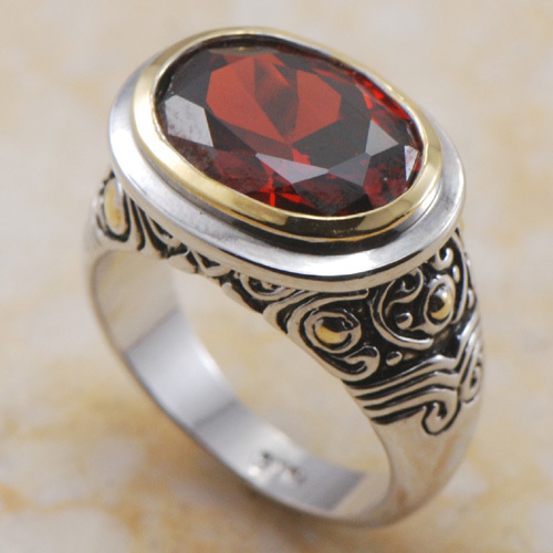 Wholesale & Retail Brand New 12*14mm Garnet 925 Sterling Silver Ring Free Shipping F362 USA size 6 7 8 9 10