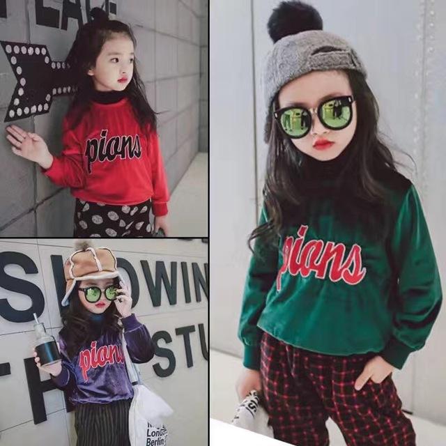 2016 nuevo suéter de invierno muchachos de las muchachas Pullover plus Camiseta de algodón suéter engrosamiento de la Felpa envío gratis