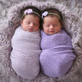 Newborn Stretch Knit Wrap Photography Props Wraps  Girl Props Swaddling Textured Baby Toddler Baby Wraps H278